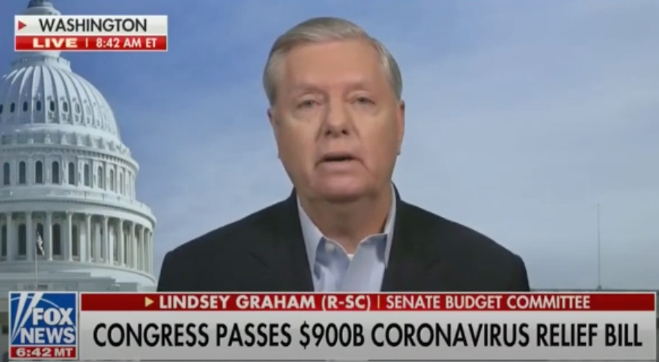 "Graham defends his vote on the monstrous ""COVID relief"" bill"
